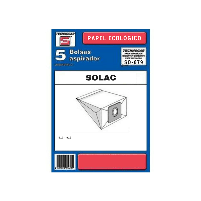 Bolsa de aspirador Solac 679