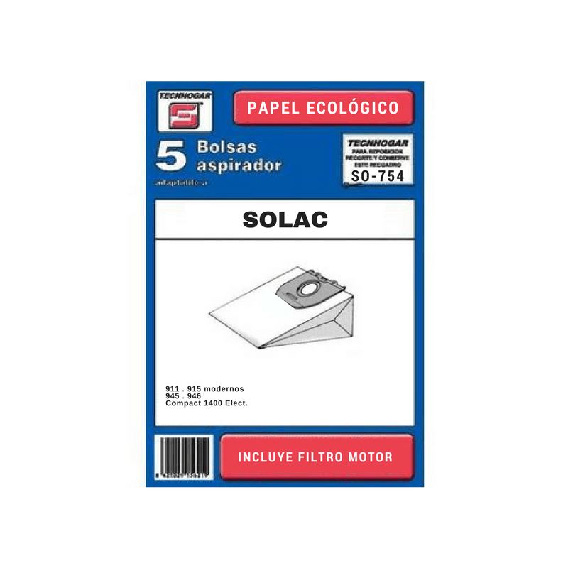 Bolsa de aspirador Solac 754