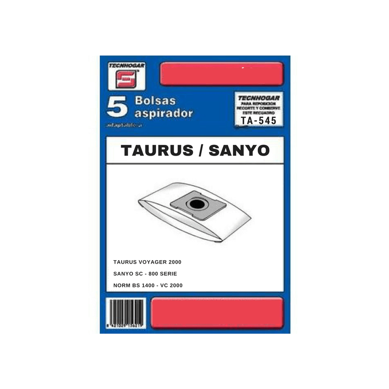 Bolsa de aspirador Taurus 545