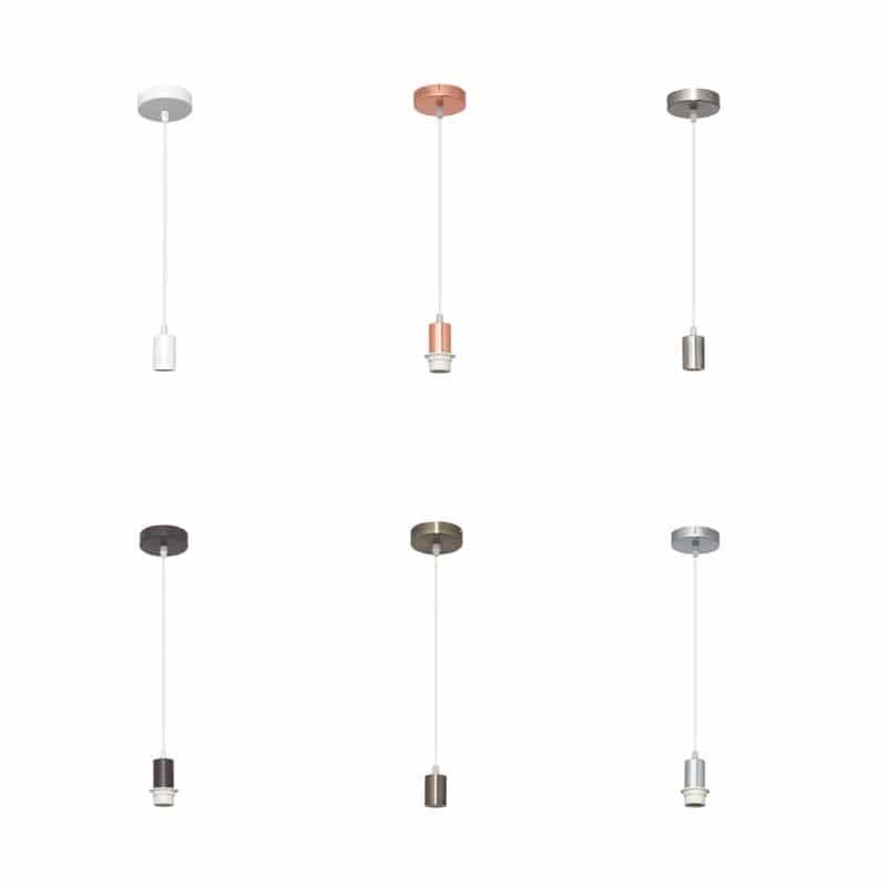Cable de suspensión para lámpara varios colores