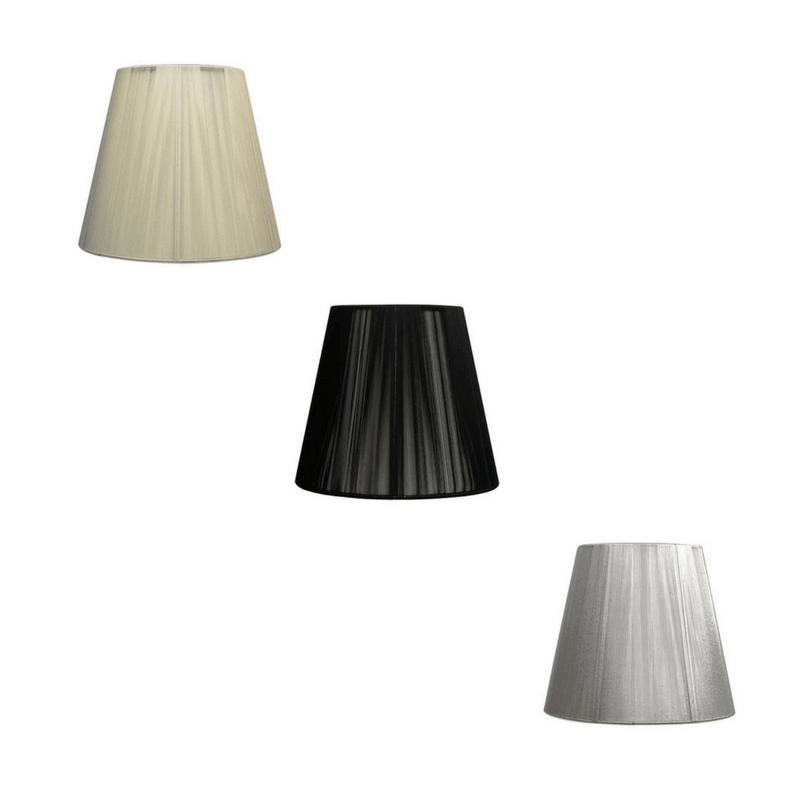Pantalla de lámpara forma cónica hilo de seda