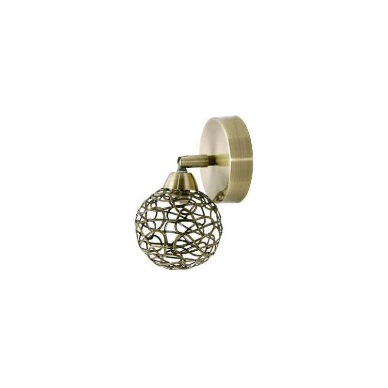Aplique de pared Serie Kripton bola color oro viejo