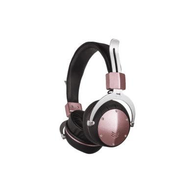 Auriculares inalámbricos rosa metalizado para radio o tarjeta micro SD Sami