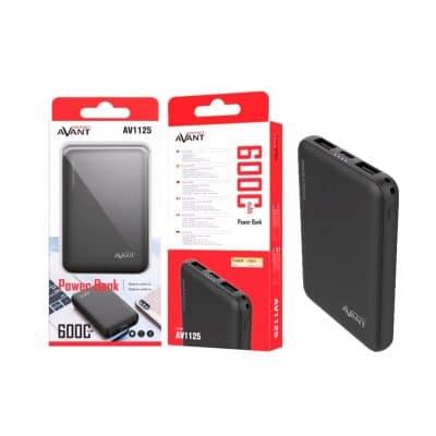 Batería externa para móvil 6000 mah color negro