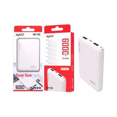 Batería externa para móvil 6000mah color blanco
