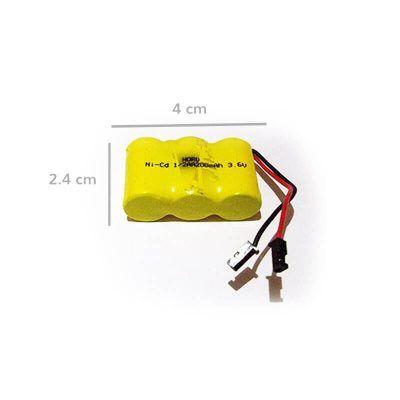 Bateria recargable 3.6v. formato 1/2 AA medidas