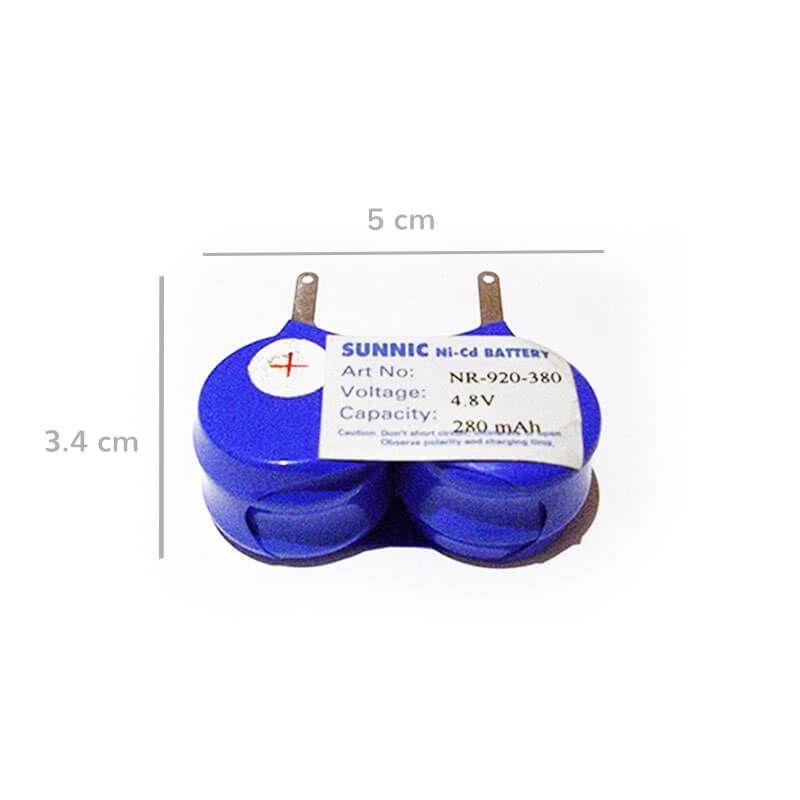 Bateria recargable 4,8v. 4 elementos medidas