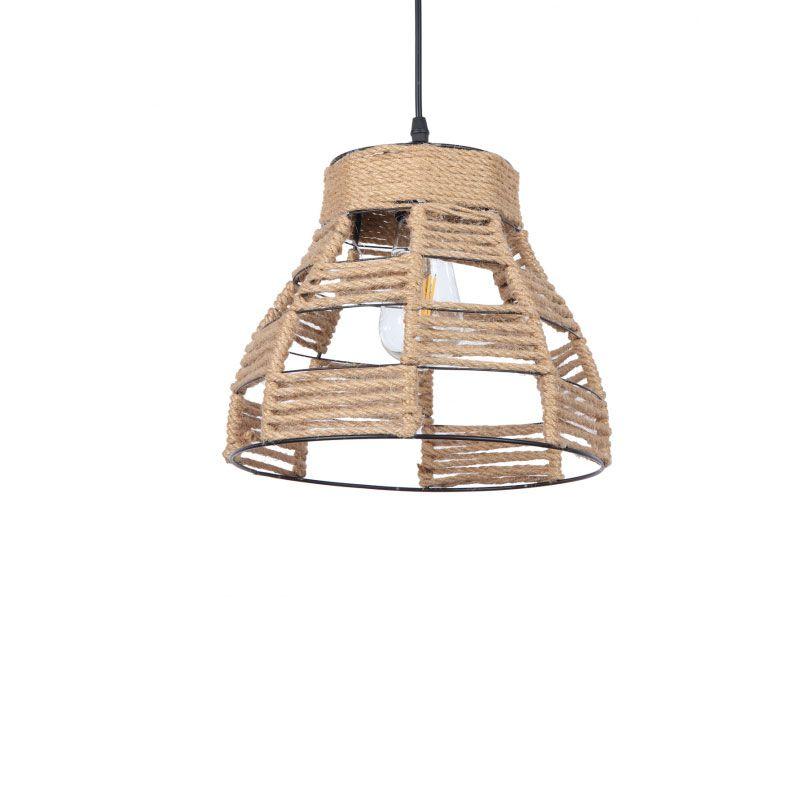 Lámpara colgante con cuerda forma de campana