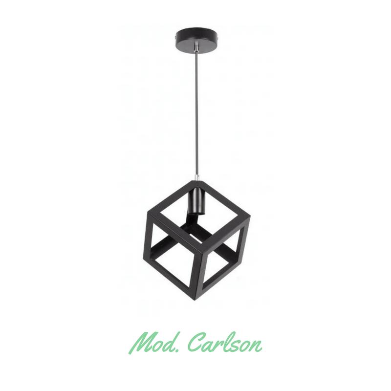 Lámpara colgante tipo jaula modelo Carlson