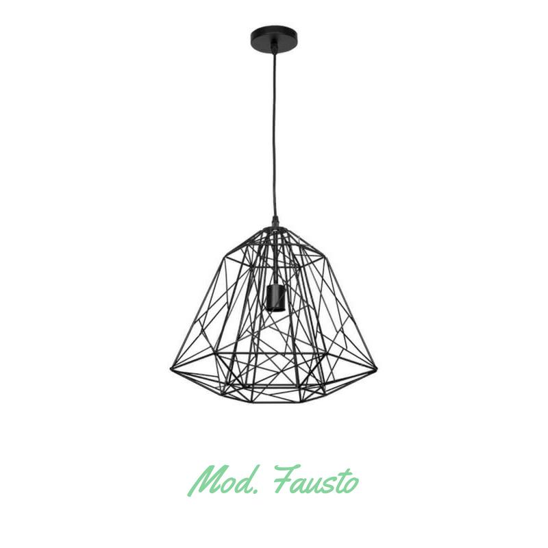 Lámpara colgante tipo jaula modelo Fausto