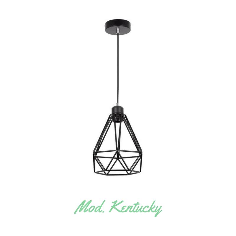 Lámpara colgante tipo jaula modelo Kentucky