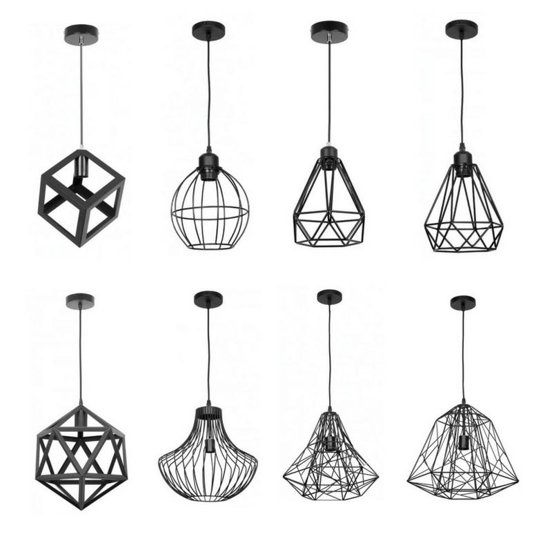 Lámpara colgante tipo jaula varios modelos