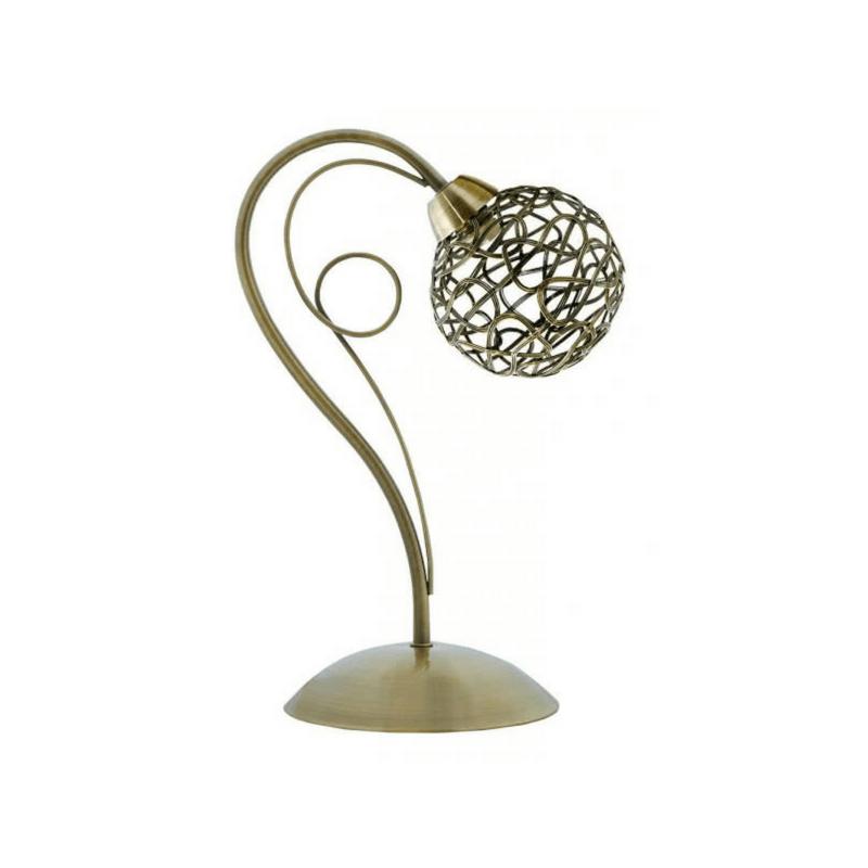 Lámpara de sobremesa Serie Kripton bola color oro viejo