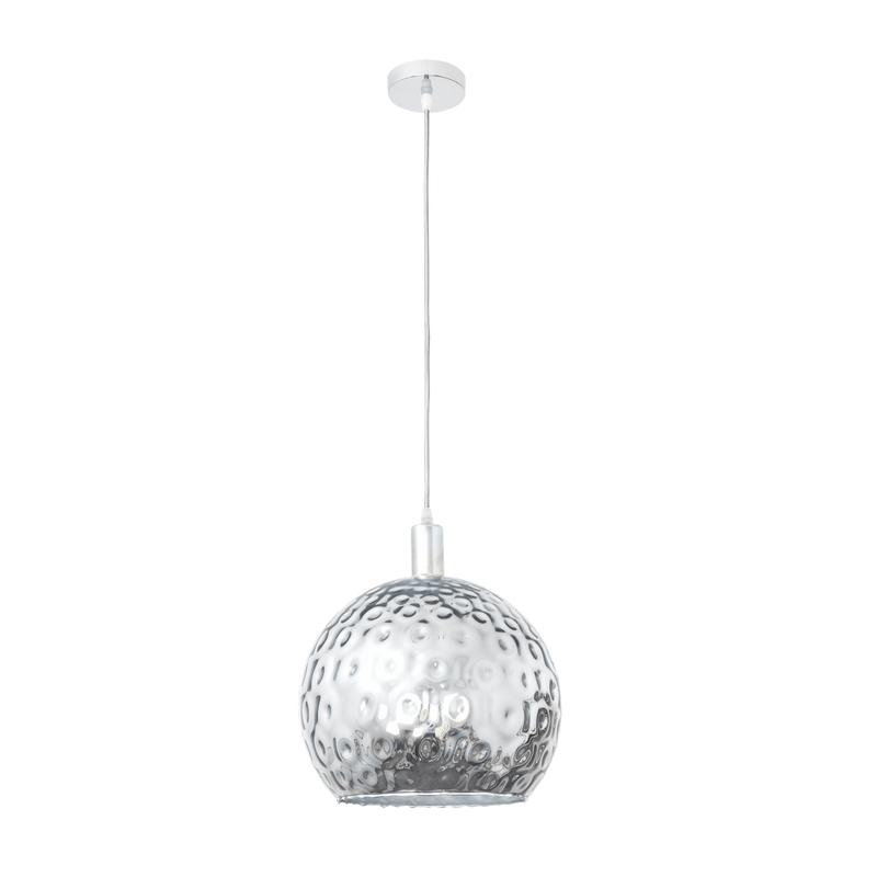 Lámpara de techo serie León media bola cristal metalizado cromo