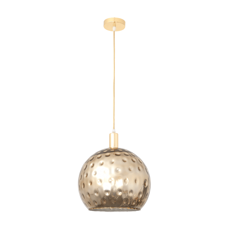 Lámpara de techo serie León media bola cristal metalizado oro