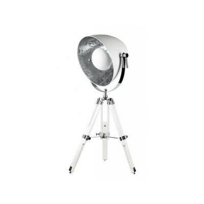 Lámpara sobremesa trípode estilo industrial serie Gutemberg color blanco