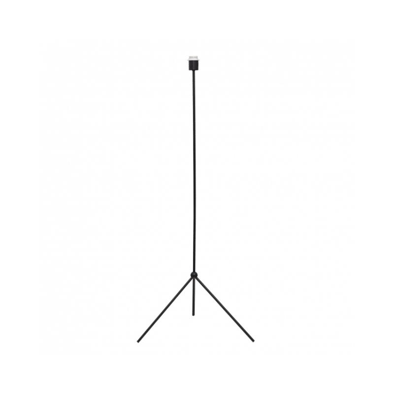 Pie de lámpara estilo trípode color negro