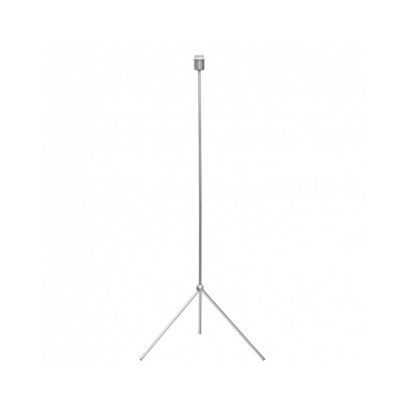 Pie de lámpara estilo trípode color plata