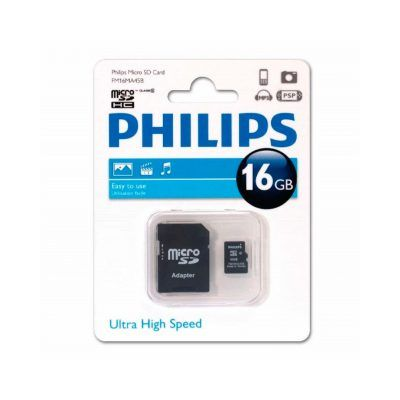 Tarjeta microSD 16 Gb Philips