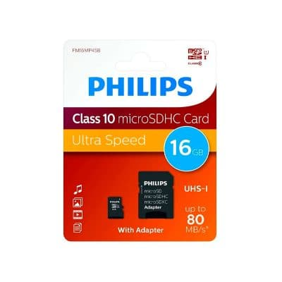 Tarjeta microSD 16Gb Philips