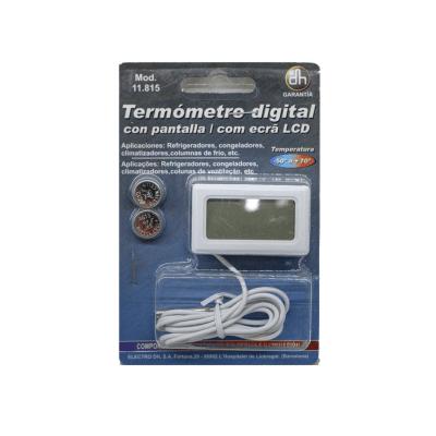 Termómetro digital con pantalla LCD blister