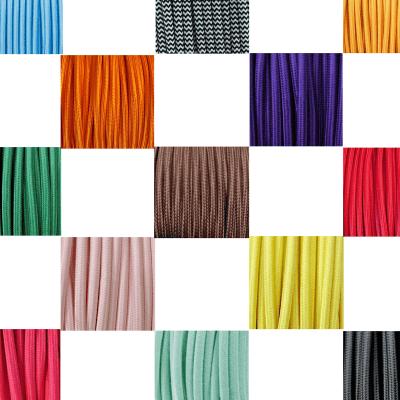 Cable textil eléctrico colores
