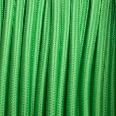 Cable textil eléctrico verde manzana