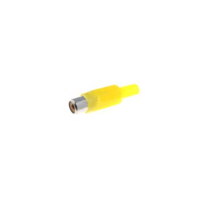 Conector rca hembra amarillo para soldar