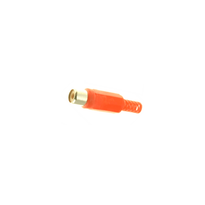 Conector rca hembra naranja para soldar