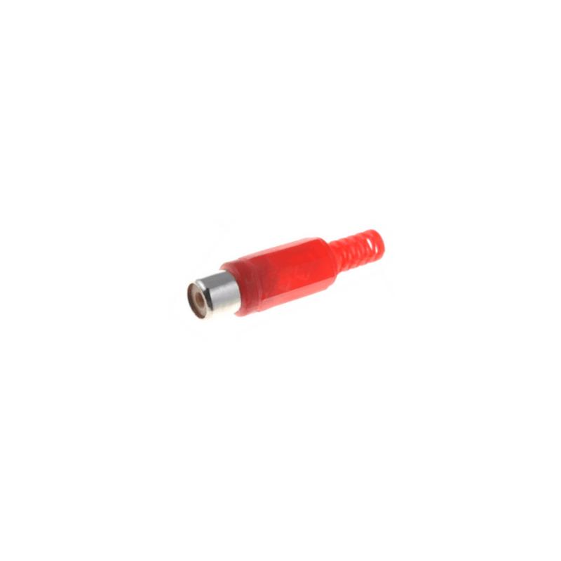 Conector rca hembra rojo para soldar