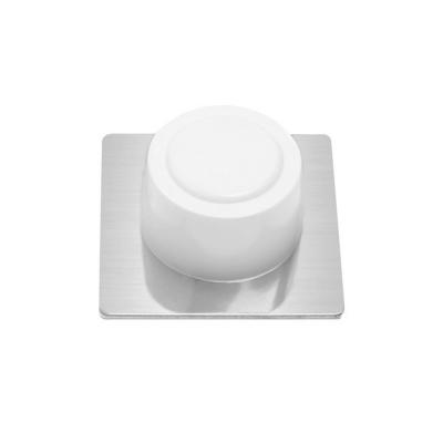 Tope de puerta adhesivo blanco