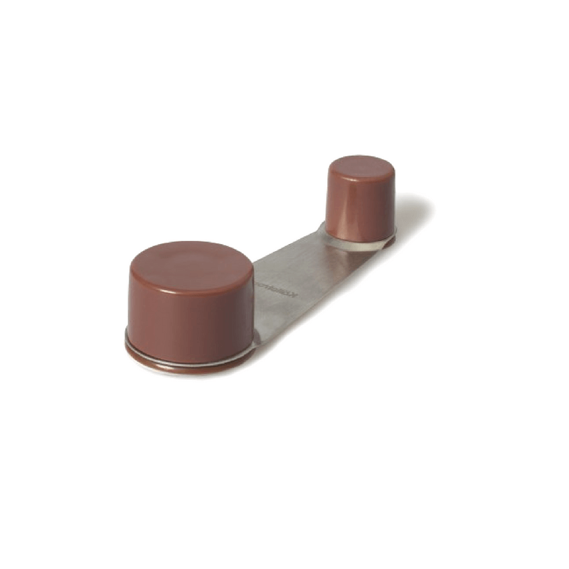 Tope retenedor puerta adhesivo marrón