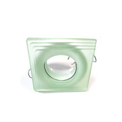 Aro empotrable cristal verde biselado
