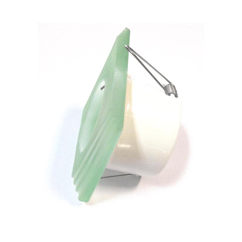 Aro empotrable cristal verde biselado vista lateral