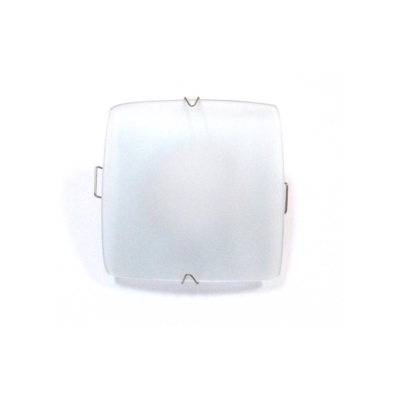 Aro empotrar cristal cuadrado blanco