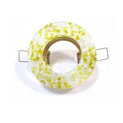 Aro empotrar cristal veteado amarillo