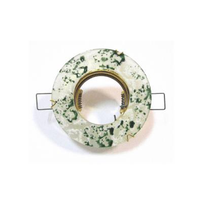 Aro empotrar cristal veteado verde