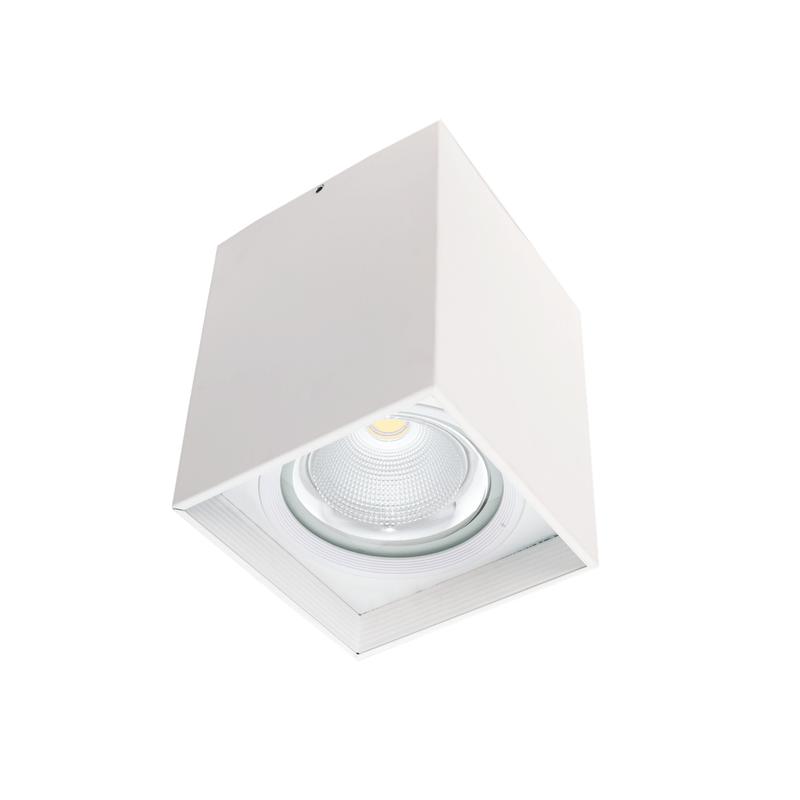 Foco de superficie led cuadrado blanco