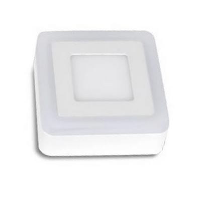 Plafón led 3 modos de luz cuadrado