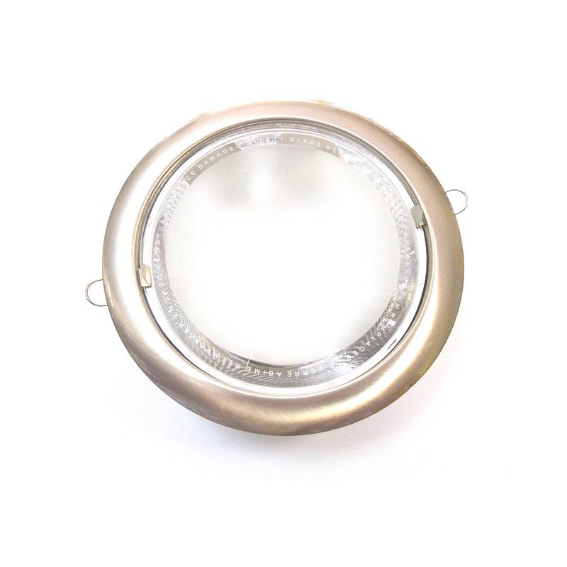 Downlight níquel empotrar 2xE27 cristal mate
