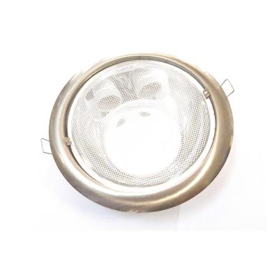 Downlight níquel empotrar 2xE27 cristal transparente