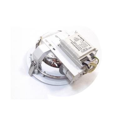 Downlight para empotrar blanco con equipo electrónico