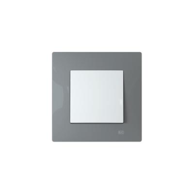 Interruptor con marco gris piedra BJC Viva