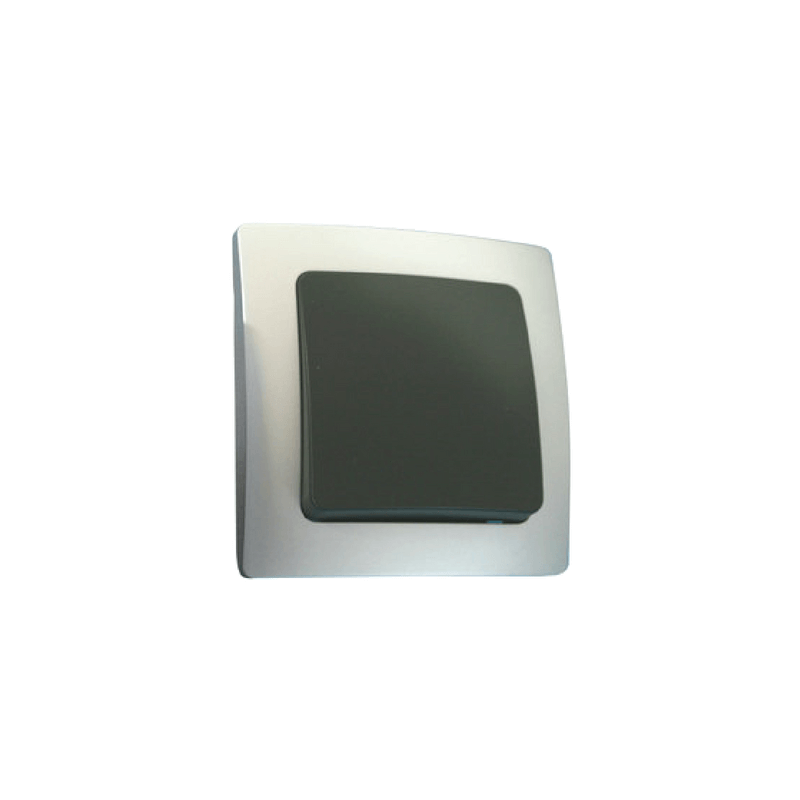 Interruptor empotrable plata serie Lille