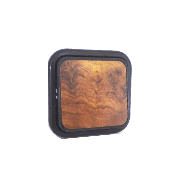 Interruptor superficie color madera