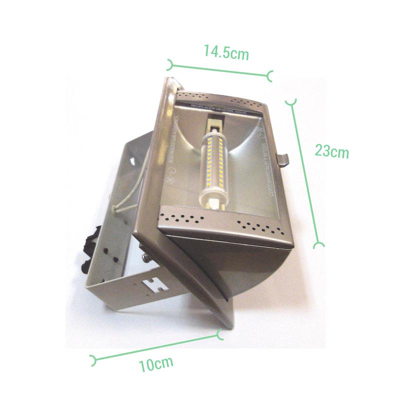 Proyector rectangular para empotrar medidas