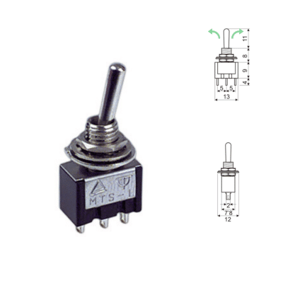 Interruptor palanca 3 posiciones mini