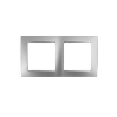 Marco 2 elementos plata mate SIMON 15