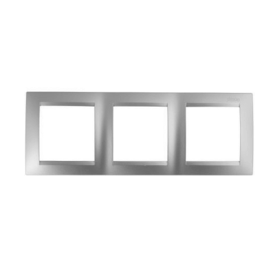 Marco 3 elementos plata mate SIMON 15