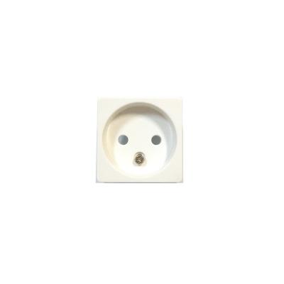 Tapa blanca para base de enchufe sin toma de tierra BJC Sol Teide